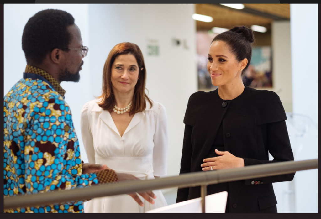 Ephraim Kisangala meets HRH Duchess of Sussex