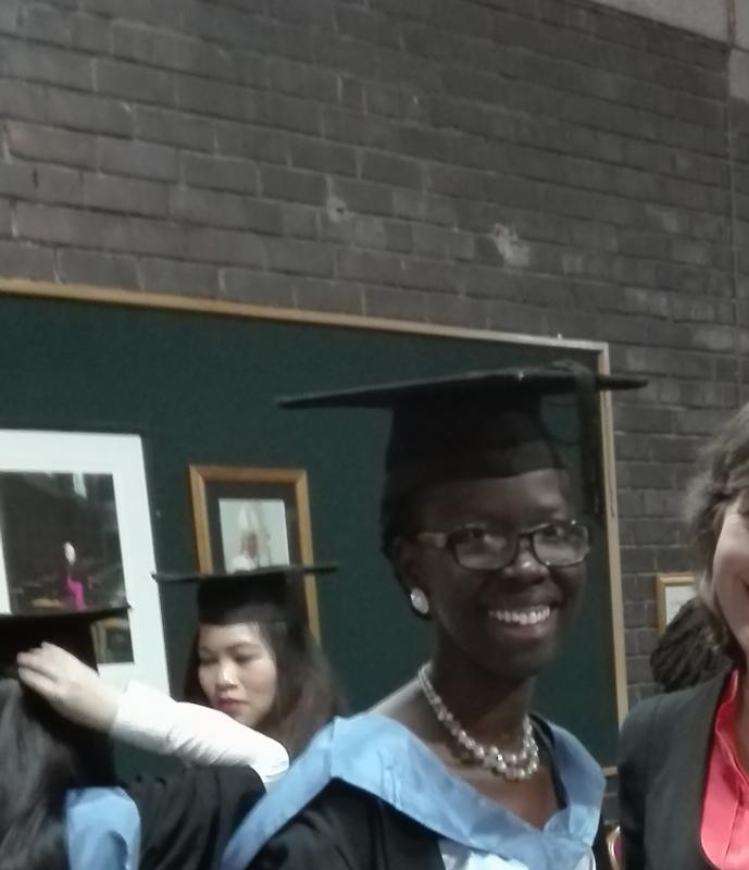 University of Liverpool recognises MSc student, Christine Anyango Modi