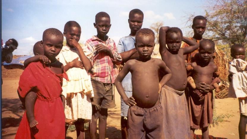 Photo of South Sudanese children in refugee camp