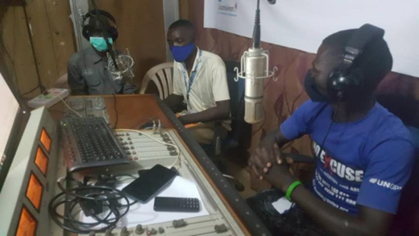AGENCI: WTI Staff live on local FM Carrying out awareness on COVID 19, and its impact of education in Yambio, Western Equatoria State (2021)