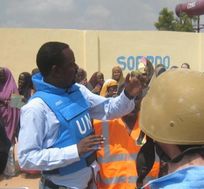 Mukhtar working with the UN