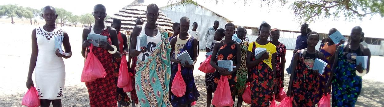 Distribution of Dignity/Menstrual Hygiene Kits and Learner' Kits to girls in upper primary